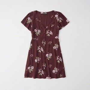 NWT Abercrombie & Fitch Button-up Mini-Dress